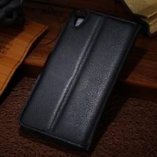 Черный чехол книжка для HTC Desire 820