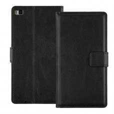 Черный чехол книжка для Huawei P8 Lite