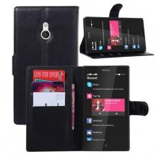 Черный чехол книжка для Nokia XL