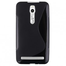 Черный силиконовый чехол для Asus ZenFone 2 (ZE551ML)