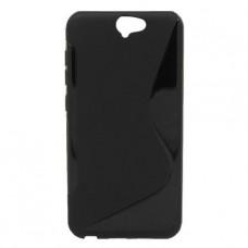 Черный силиконовый чехол для HTC One A9
