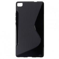 Черный силиконовый чехол для Huawei P8 Lite