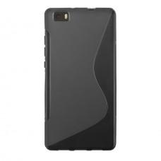 Черный силиконовый чехол для Huawei P8