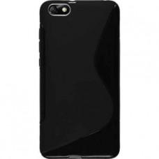 Черный силиконовый чехол для Huawei Honor 4X