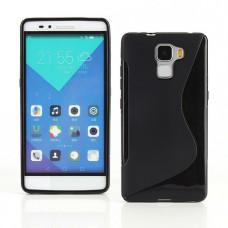 Черный силиконовый чехол для Huawei Honor 7
