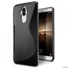 Черный силиконовый чехол для Huawei Mate 9