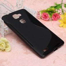 Черный силиконовый чехол для Huawei Mate S