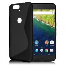 Черный силиконовый чехол для Huawei Nexus 6p