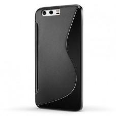 Черный силиконовый чехол для Huawei P10 Plus
