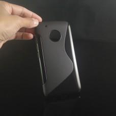 Черный силиконовый чехол для Lenovo Moto G5 Plus