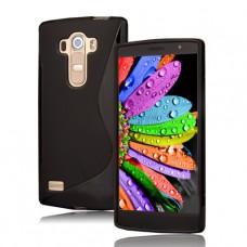 Черный силиконовый чехол для LG G4 Pro