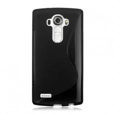 Черный силиконовый чехол для LG G4