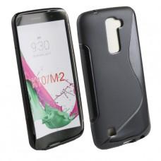 Черный силиконовый чехол для LG k10