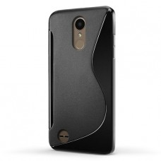 Черный силиконовый чехол для LG K8 2017