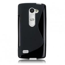 Черный силиконовый чехол для LG Leon