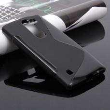Черный силиконовый чехол для LG Spirit