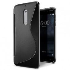 Черный силиконовый чехол для Nokia 5