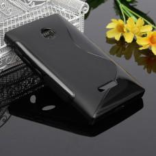 Черный силиконовый чехол для Nokia Lumia 435/532