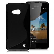 Черный силиконовый чехол для Nokia Lumia 550