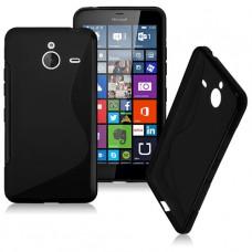 Черный силиконовый чехол для Nokia Lumia 640XL
