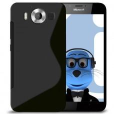 Черный силиконовый чехол для Nokia Microsoft Lumia 950
