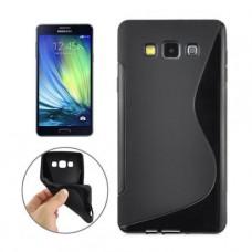 Черный силиконовый чехол для Samsung A3 2017