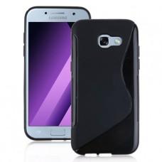 Черный силиконовый чехол для Samsung A5 2017