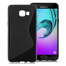 Черный силиконовый чехол для Samsung A7 2016