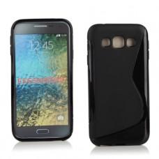 Черный силиконовый чехол для Samsung Galaxy E5