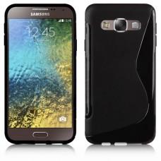 Черный силиконовый чехол для Samsung Galaxy E7