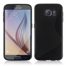 Черный силиконовый чехол для Samsung Galaxy S6