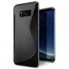 Черный силиконовый чехол для Samsung Galaxy S8