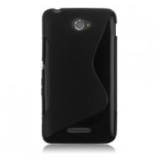 Черный силиконовый чехол для Sony Xperia E4