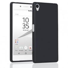 Черный силиконовый чехол для Sony Xperia Z5