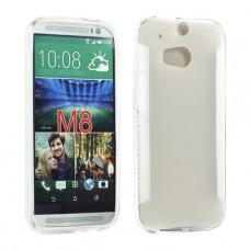 Прозрачный силиконовый чехол для HTC One m8/m8s