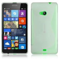 Прозрачный силиконовый чехол для Nokia Lumia 535