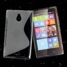 Прозрачный силиконовый чехол для Nokia X2