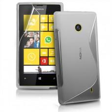 Прозрачный силиконовый чехол для Nokia Lumia 520/525