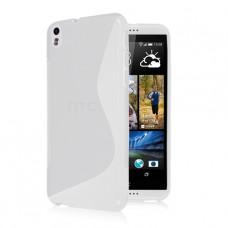 Прозрачный силиконовый чехол для HTC Desire 800/816