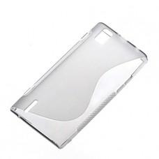 Прозрачный силиконовый чехол для Huawei Ascend P2