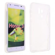 Прозрачный силиконовый чехол для Huawei Honor 3