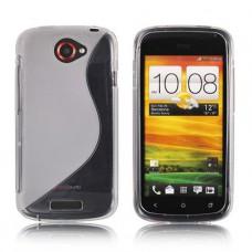 Прозрачный силиконовый чехол для HTC One X/One X+