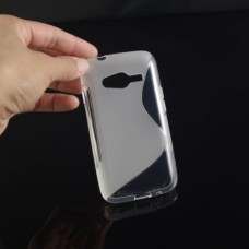Прозрачный силиконовый чехол для Samsung Galaxy Ace 4 Lite