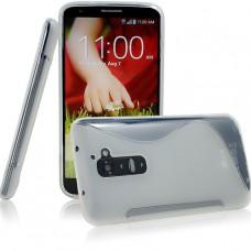 Прозрачный силиконовый чехол для LG G2