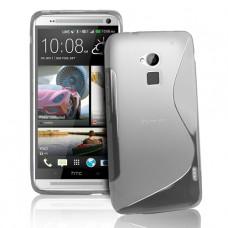 Прозрачный силиконовый чехол для HTC One Max