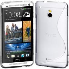 Прозрачный силиконовый чехол для HTC One mini