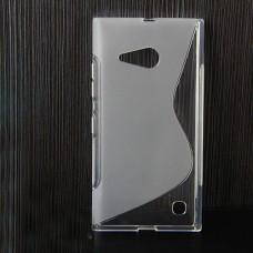 Прозрачный силиконовый чехол для Nokia Lumia 730/735