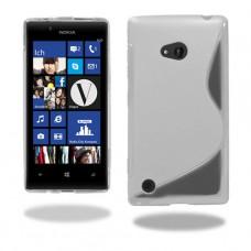 Прозрачный силиконовый чехол для Nokia Lumia 720