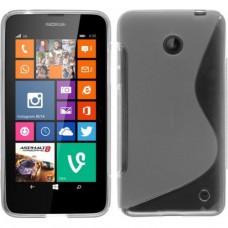 Прозрачный силиконовый чехол для Nokia Lumia 630/635