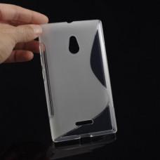 Прозрачный силиконовый чехол для Nokia XL